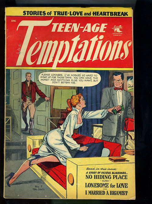 TEEN AGE TEMPTATIONS #7[1953] CLASSIC BAKER COVER   eBay   ~Cool ...