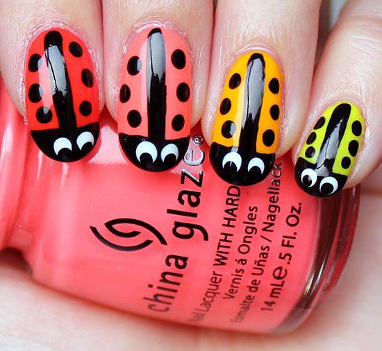 Ladybug Nails Nail Art - Ladybug Nails Nail Art Creative Nail Art Pinterest Nail Nail