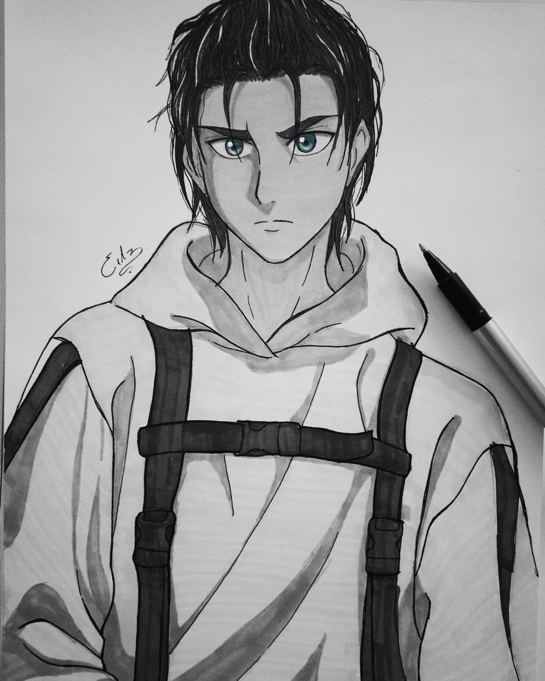 19 Years Old Eren And His Fashion Style Attack On Titan Art Eren Jaeger Fan Art