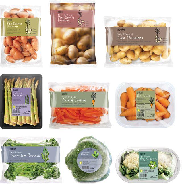 Vegetables By Sarah Hingston 식품 포장 디자인 식품 포장 채소