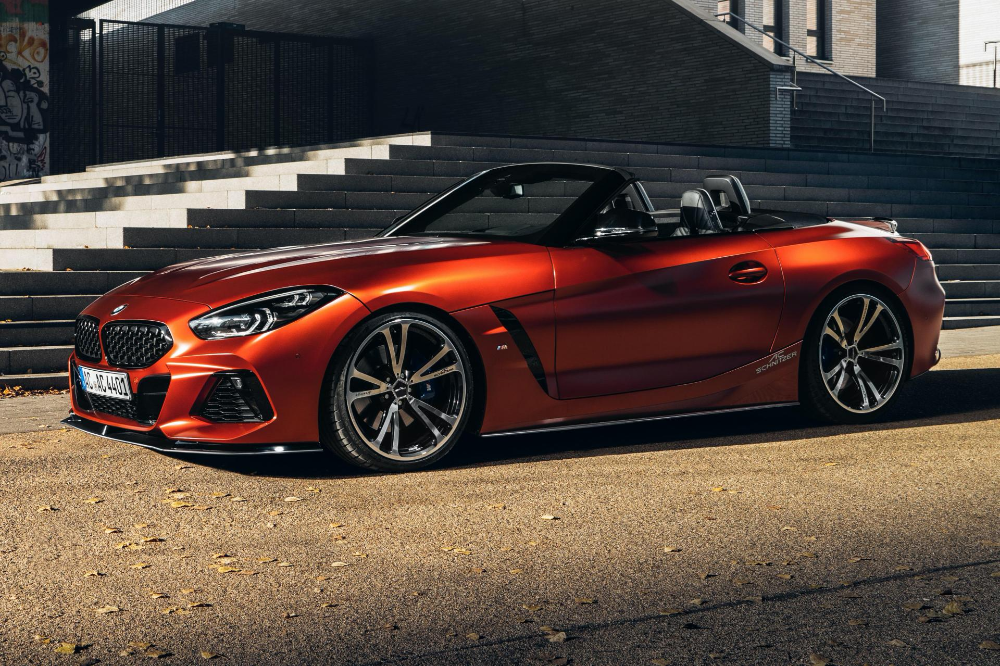 Ac Schnitzer Boosts Bmw Z4 M40i To 400 Ps Sharpens Its Handling And Looks Too Carscoops Bmw Z4 Bmw Bmw Design