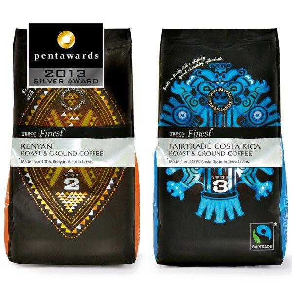 075 Pw Tesco Finest Roast 1 Coffee Packaging Coffee