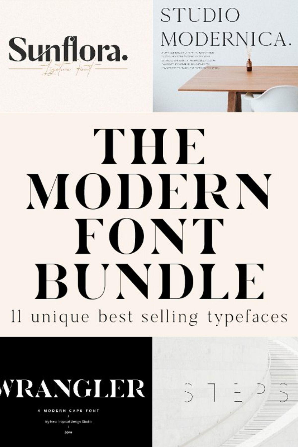 The Chic & Unique Modern Font Bundle Modern fonts
