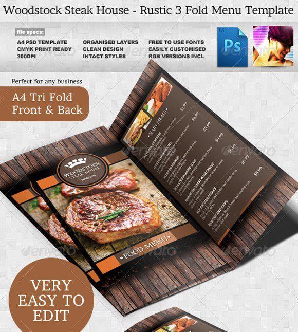65+ Best Restaurant Food Menu Templates - PSD & InDesign | Pinterest ...