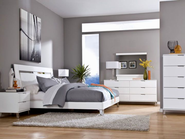 Mesmerizing Bedroom Colors With White Furniture Pictures - Best ...