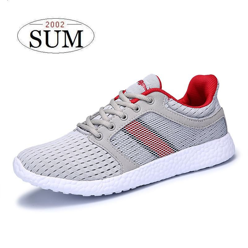 Men's Spring Casual Shoes Breathable Lace-Up Flats Light Mesh Sport Running Shoes