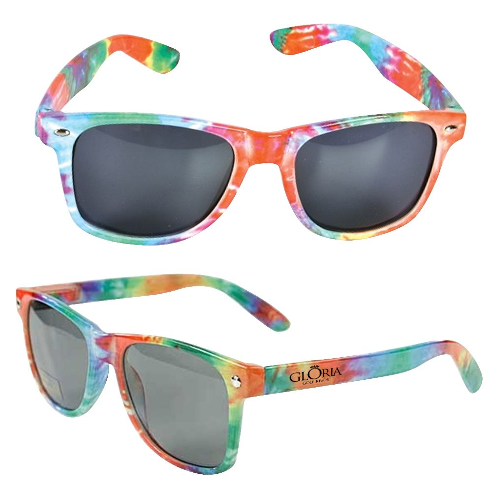175250d3bf Order your Custom UVA UVB Protection Tie-Dye Sunglasses and personalize  them with your logo.