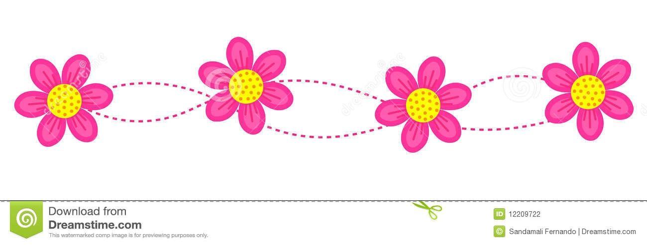 Flower Line Clipart
