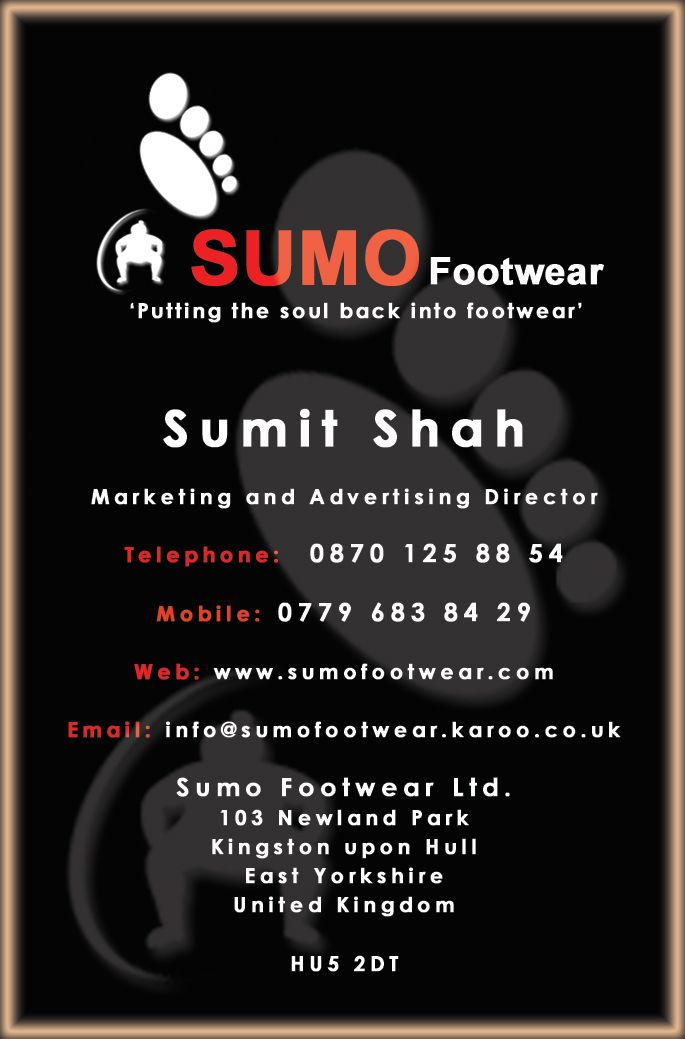 Business card for sumo footwear art and design pinterest sumo business card for sumo footwear reheart Choice Image