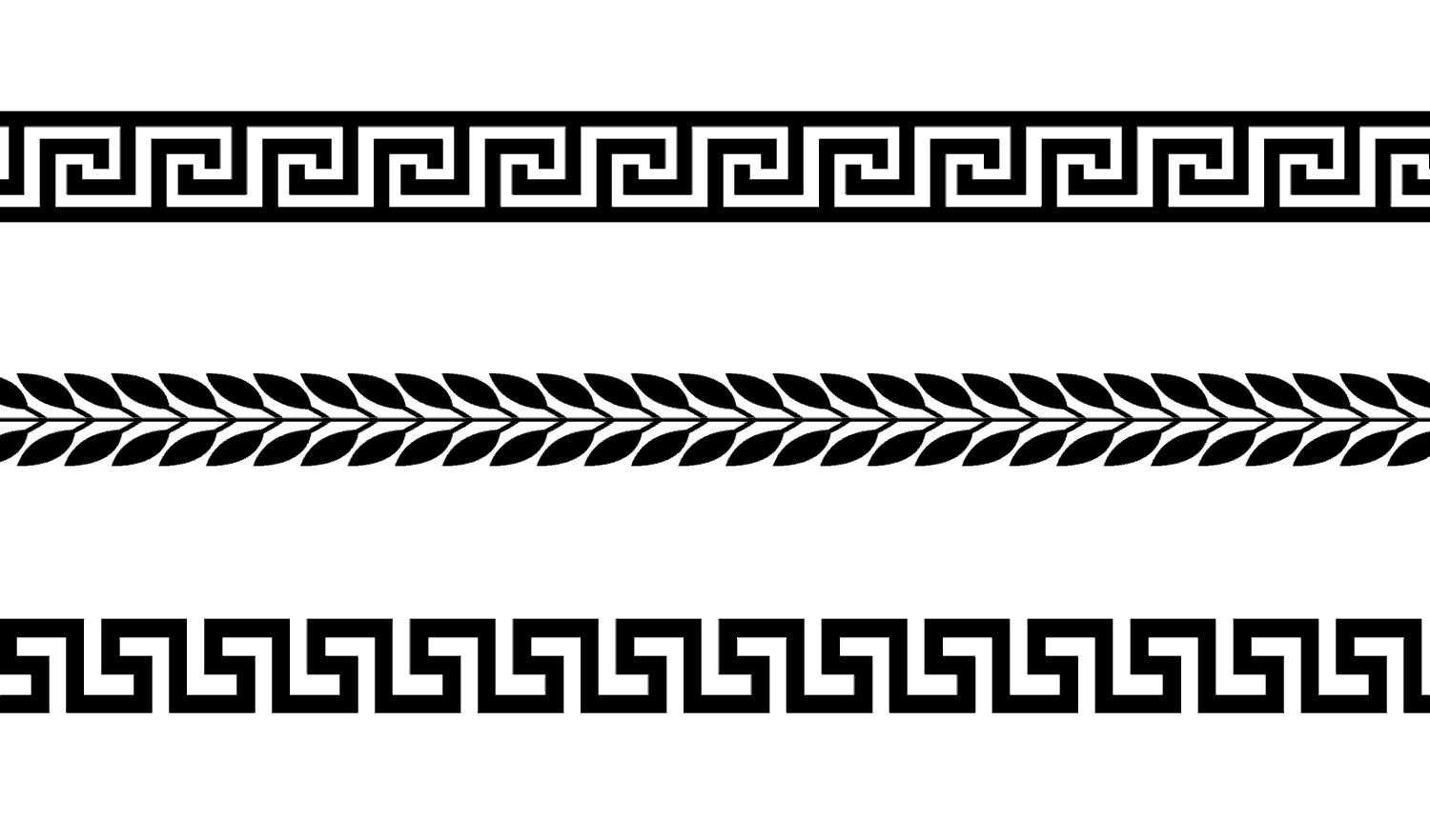 Classical Greek Geometric Borders In Svg