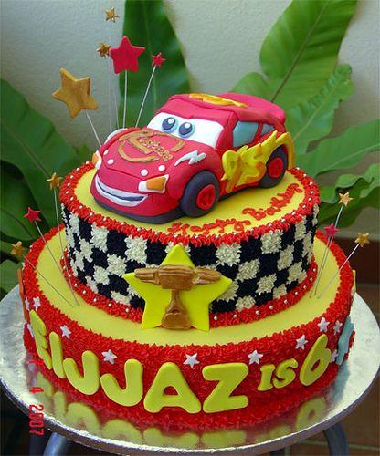 Lighning Mcqueen 3d Cake 3 tier Disney Cars Party Pinterest