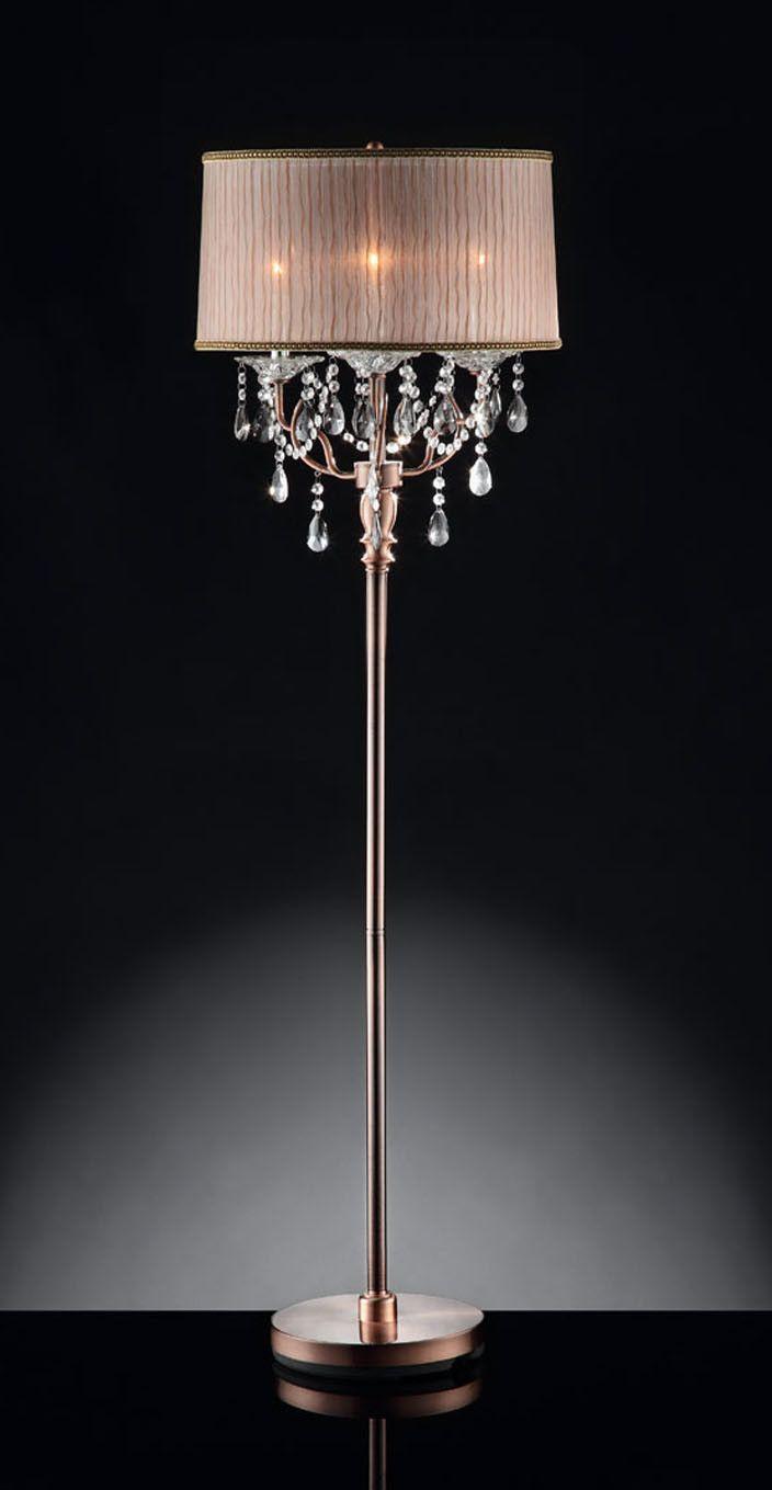 Ore Rosie Crystal 3 Light Floor Lamp Amp Reviews Wayfair