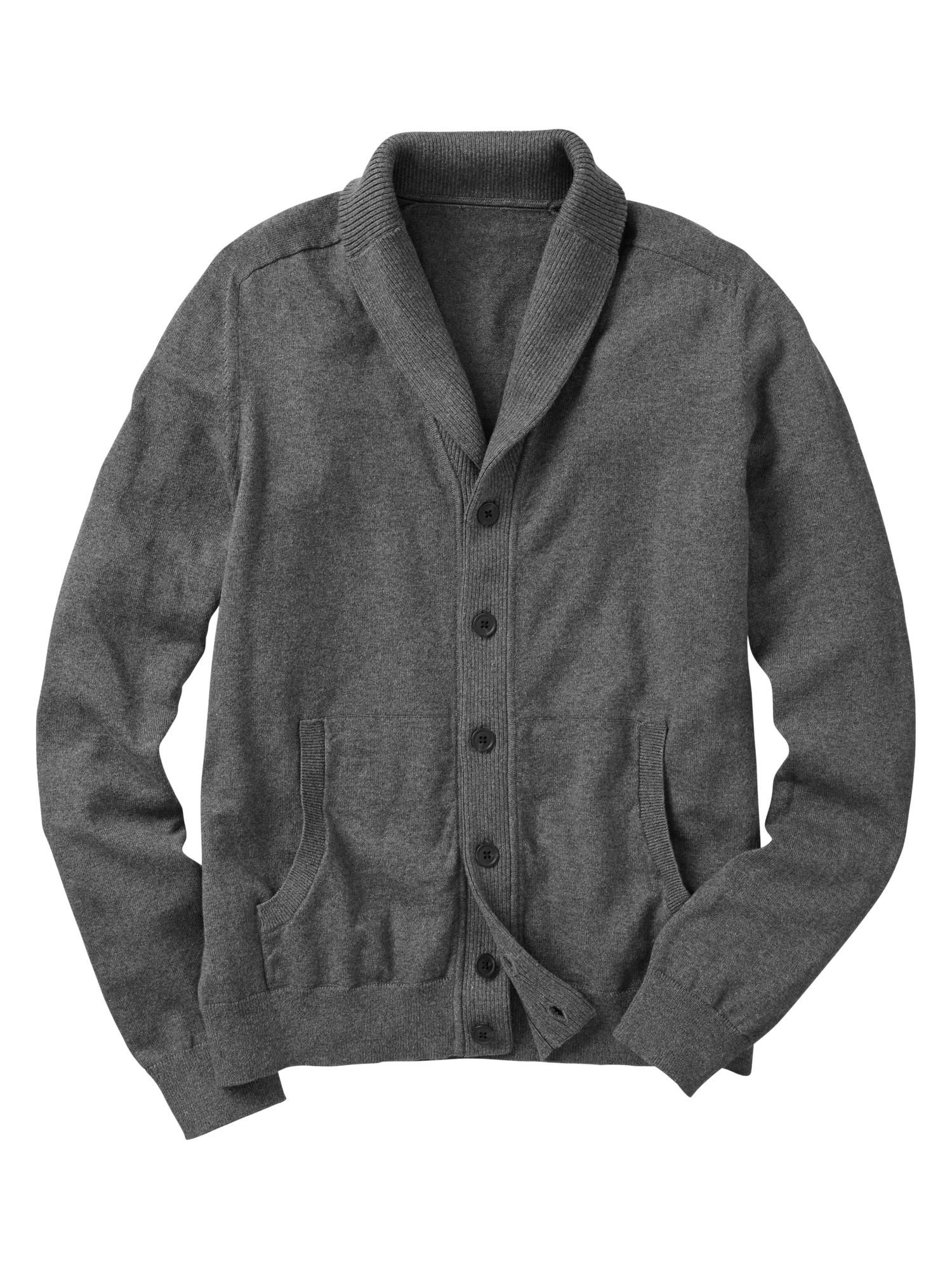Gap | Cotton cashmere shawl cardigan. Men's cardigan, but a size ...