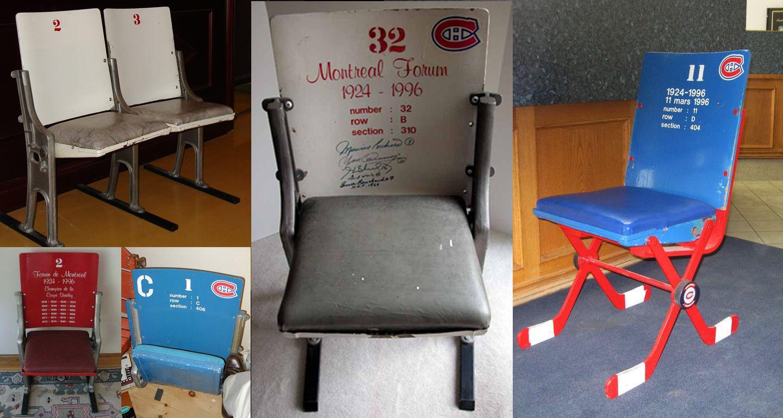 En souvenir du Forum de Montréal, le club de hockey Canadien de Montréal a conservé quelques sièges qui sont mis en valeur dans le nouvel aménagement (Forum Pepsi). Quelques sièges ont également été vendus en tant qu'objets de collection.