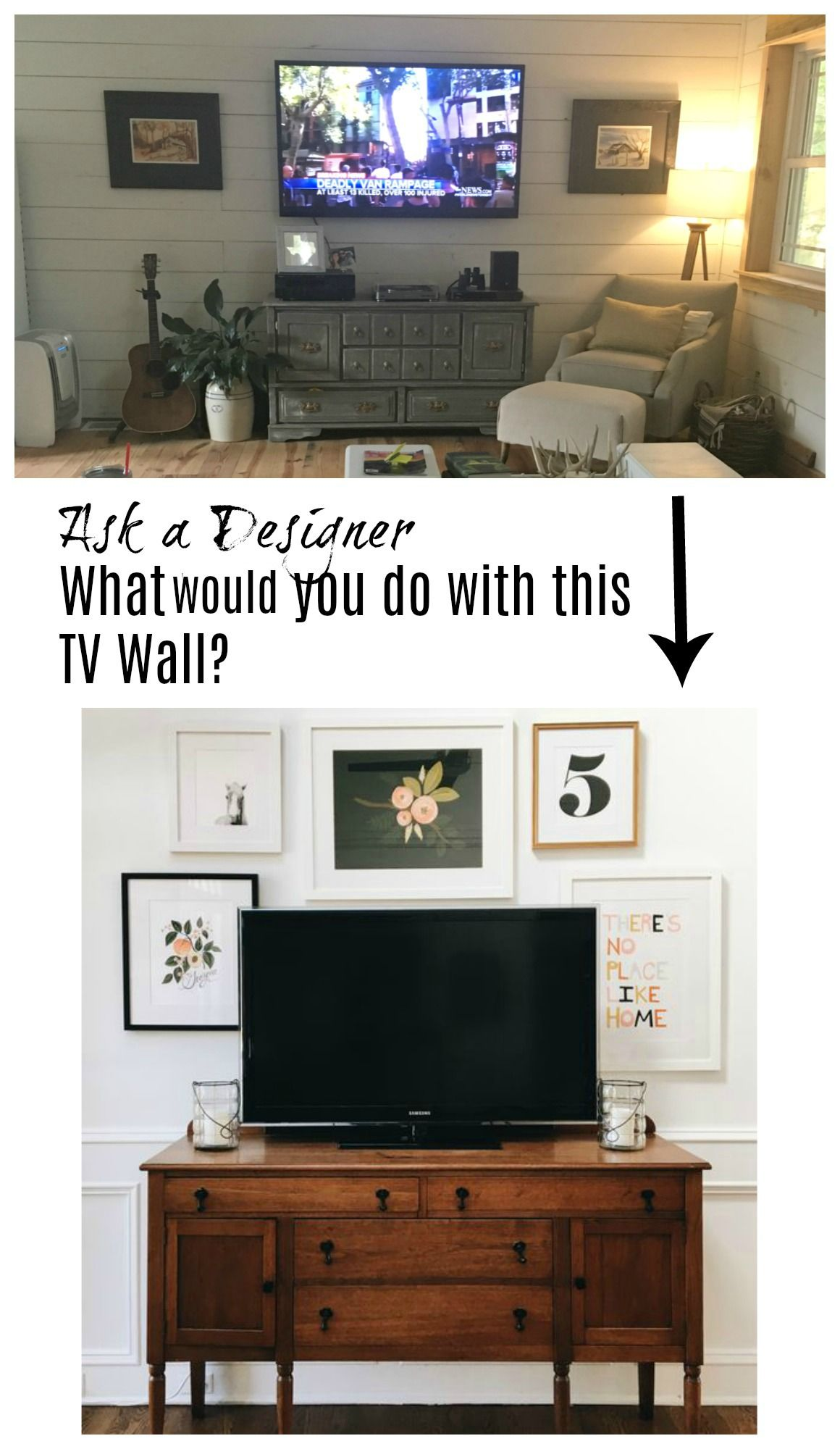 Ask A Designer Series Mistakes Made To Tv Walls Nesting With Grace Family Room Walls Bedroom Tv Wall Family Room Design With Tv