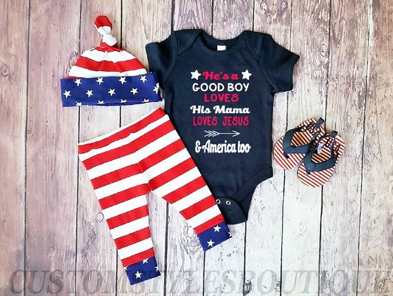 7d575887a Baby Boys First 4th Of July Outfit Navy by CustomStylesBoutique ...