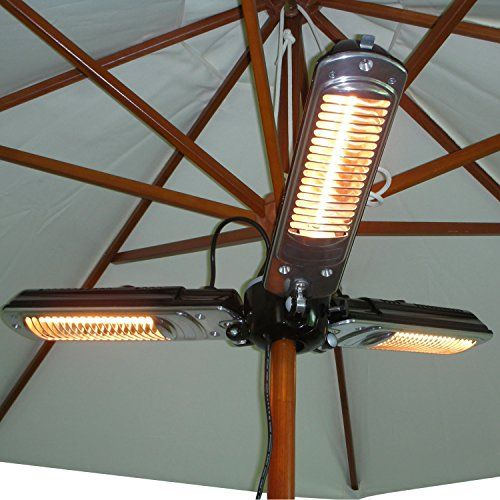 Beau Outsunny Electric Umbrella Parasol Mounted Infrared Heater 1500W Patio  Gazebo Outdoor Use