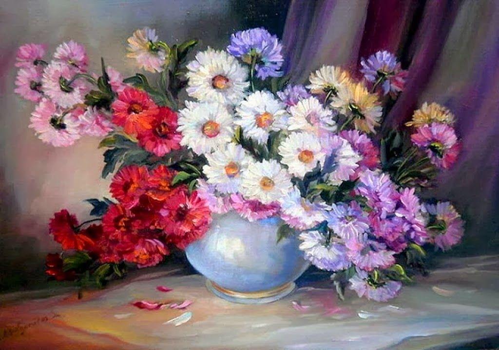 pinturas de jarrones de flores pintora anca bulgaru hermosos jarrones de flores arte en flores pinturas realistas de flores arr