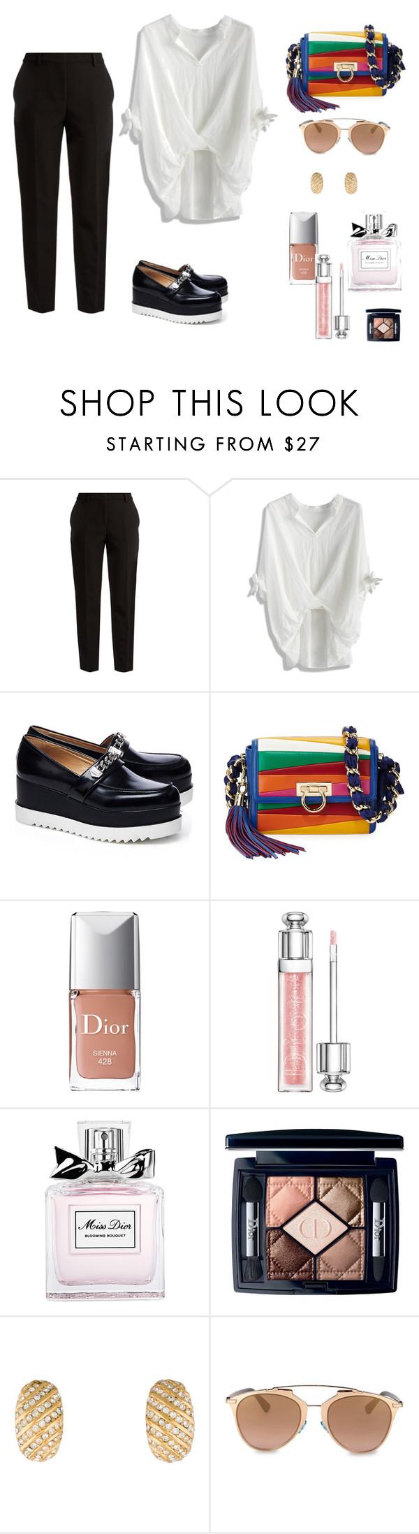 Dior diorissimo by janka-dzurillova on Polyvore featuring Chicwish, MSGM, Karl Lagerfeld, Salvatore Ferragamo and Christian Dior