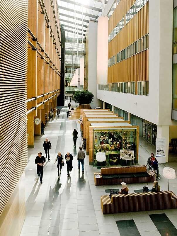 Akershus University Hospital Nye Ahus C F Moller Hospital Design Hospital Interior Architecture