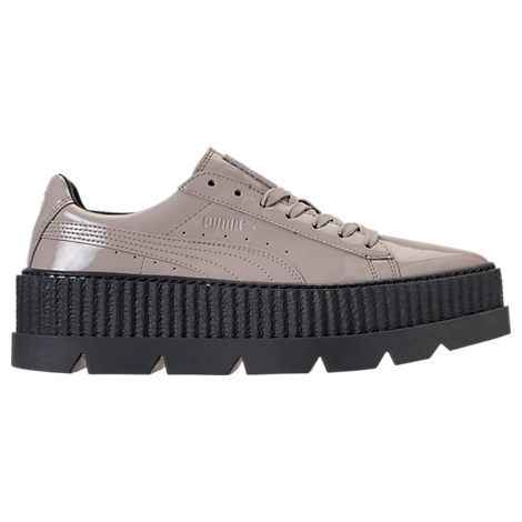 puma pointy creeper patent platform sneakers