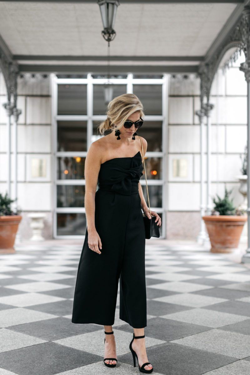 37f71e04ac This strapless black jumpsuit is my new little black dress