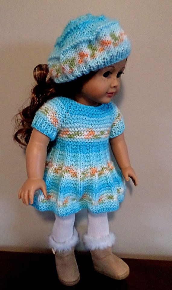 American Girl Doll Gotz Madame Alexander - Hand knitted dress and ...