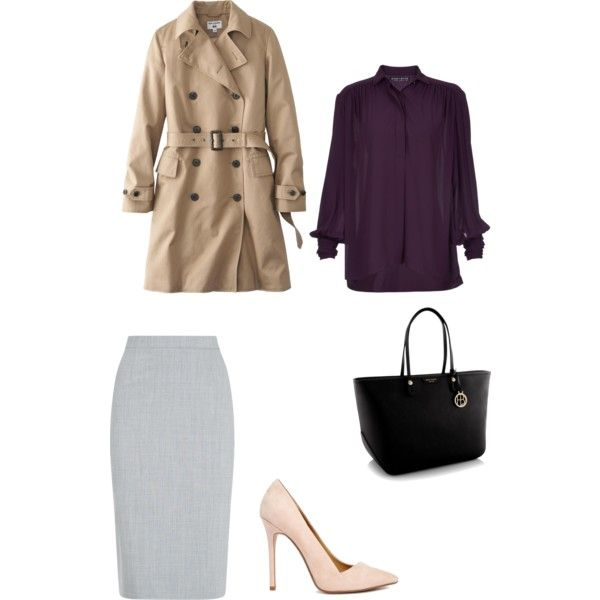 A fashion look from February 2015 featuring Alice + Olivia blouses, Uniqlo coats and Jaeger skirts. Browse and shop related looks.