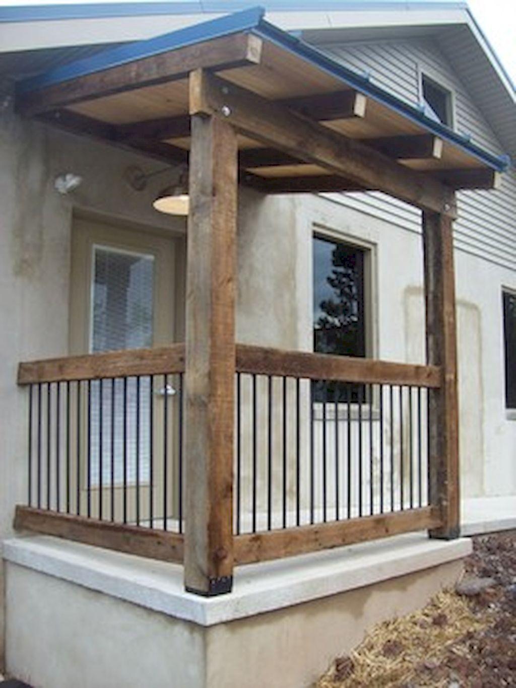 65 stunning farmhouse porch railing decor ideas (50