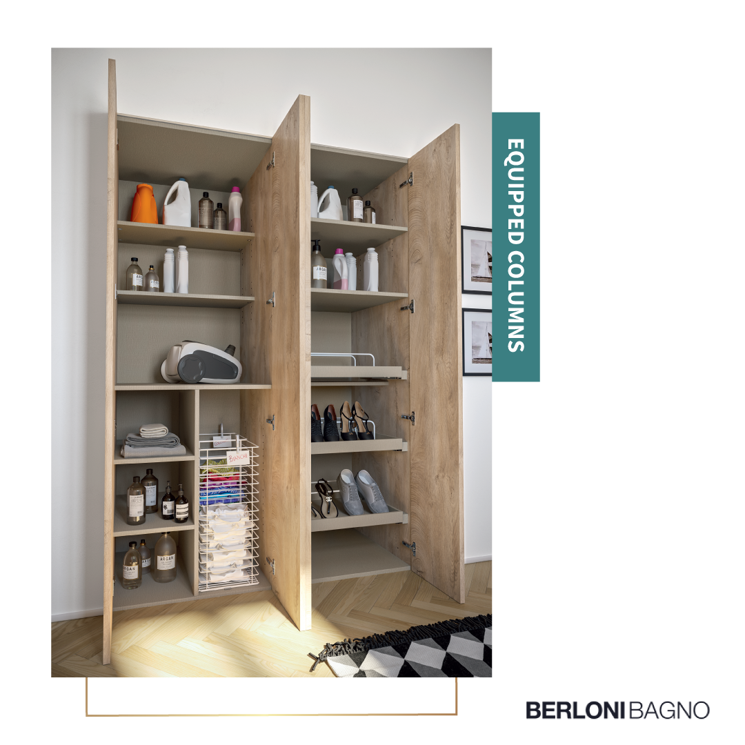Mobili Bagno Berloni Catalogo.The Range Of The Equipped Columns Is Completed With The Cabinet