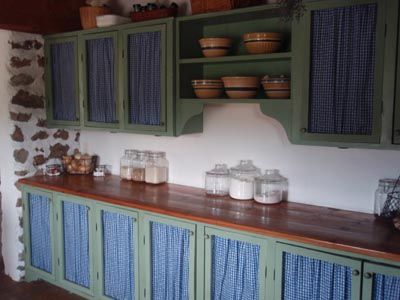 Superb Using Curtains On Kitchen Cabinets : Using Curtains For Cabinet .