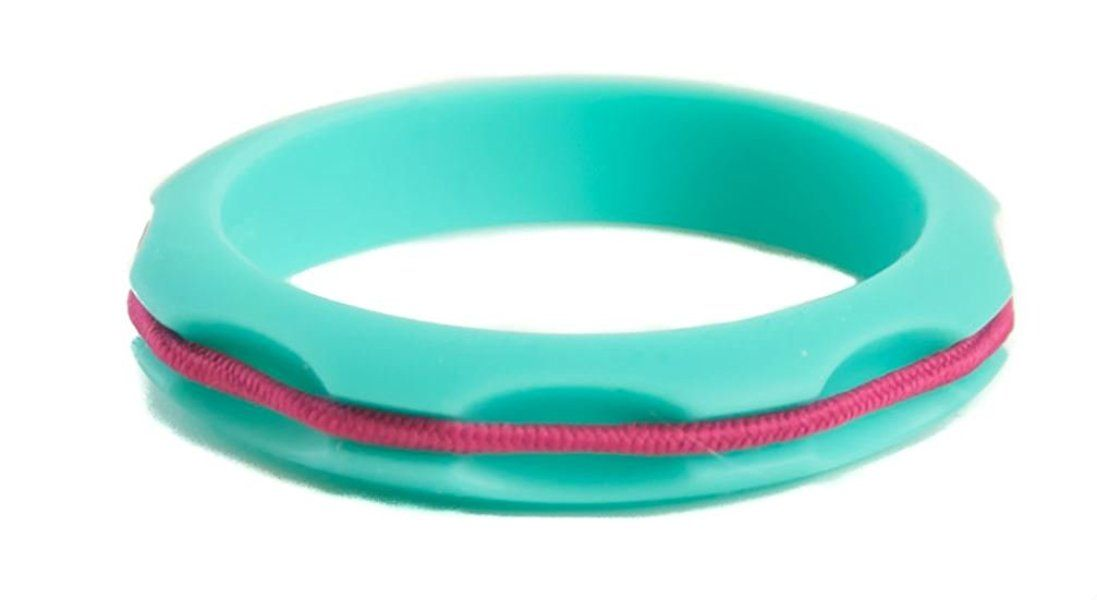 Hairbanglez Miniz Kids Sporty Silicone Fashion Hair Band Bracelet - White