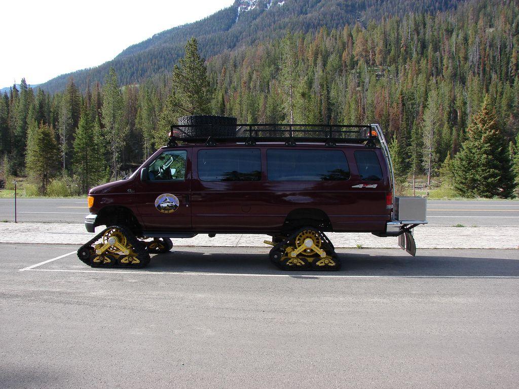 Tracked 4x4 van