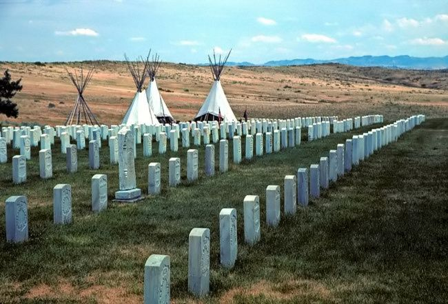 General Custer,last stand,Little Bighorn Battlefield,Indians,bones,MT,c1876