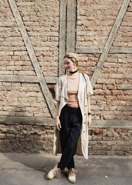 ľ days in #prague #more in #blog: https://byfoxygreen.blogspot.sk/2017/09/prague-slou-fashion-week.html  #styling #slowfashion #sustainbility #fashion #coat #hairstyle #event #fashionweek #travel #choker #handmade