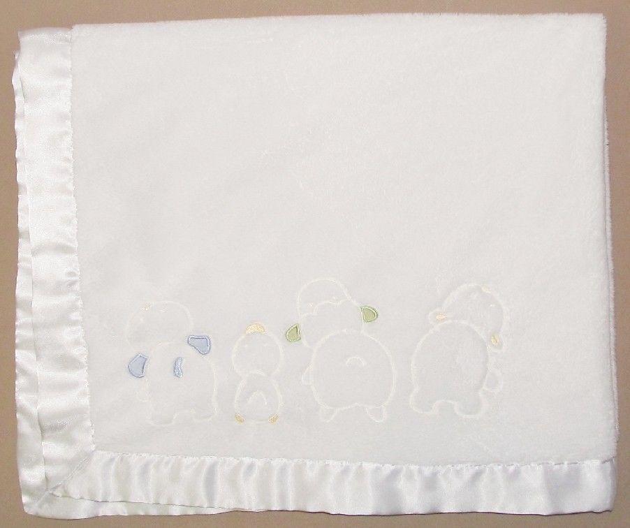 New Chick Pea Cream Plush Bear Pink polyfleece Baby Blanket 2 pc set