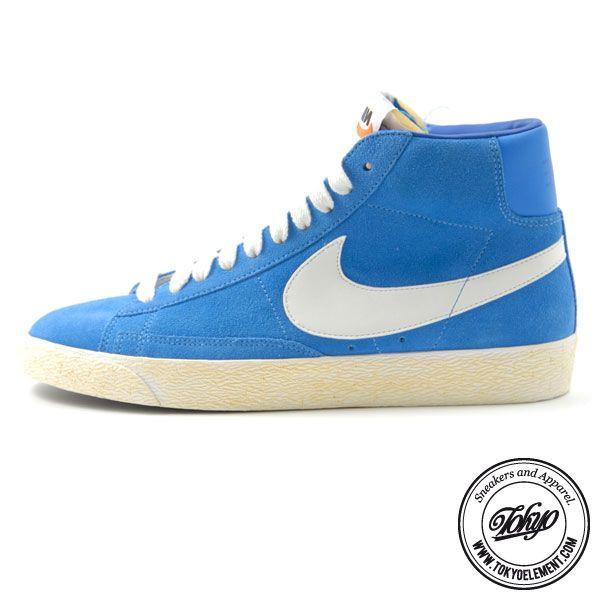 on sale e5887 a4dba NIKE BLAZER HI SUEDE VINTAGE - ITALY BLUE La pionieristica Scarpa da  basket Nike blazer . ...