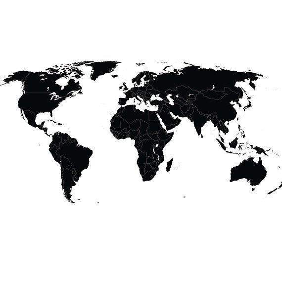 Printable World Map Outline Pdf Map Of World Blank Printable Hd Png Download Is Free Transparen World Map Outline Free Printable World Map World Map Stencil