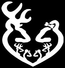 Download Deer Heart Doe and Buck With Babies Car or Laptop Decal ...