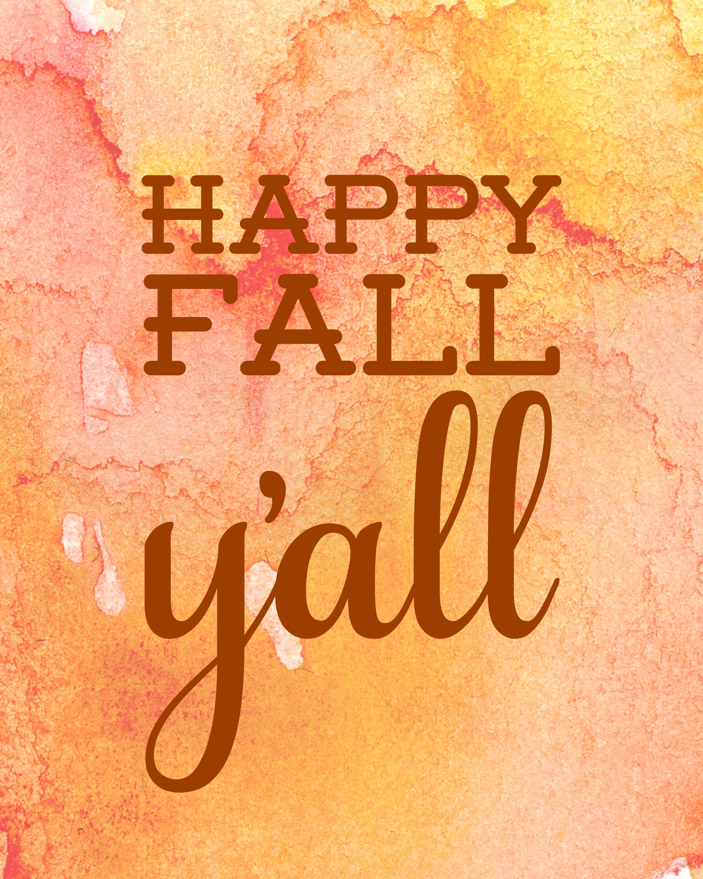 This is a photo of Terrible Happy Fall Yall Printable
