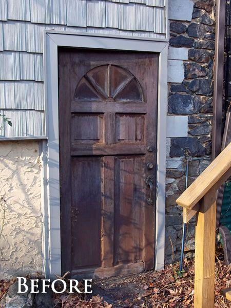 Old Front Door Before Before After Photos Doors Pinterest
