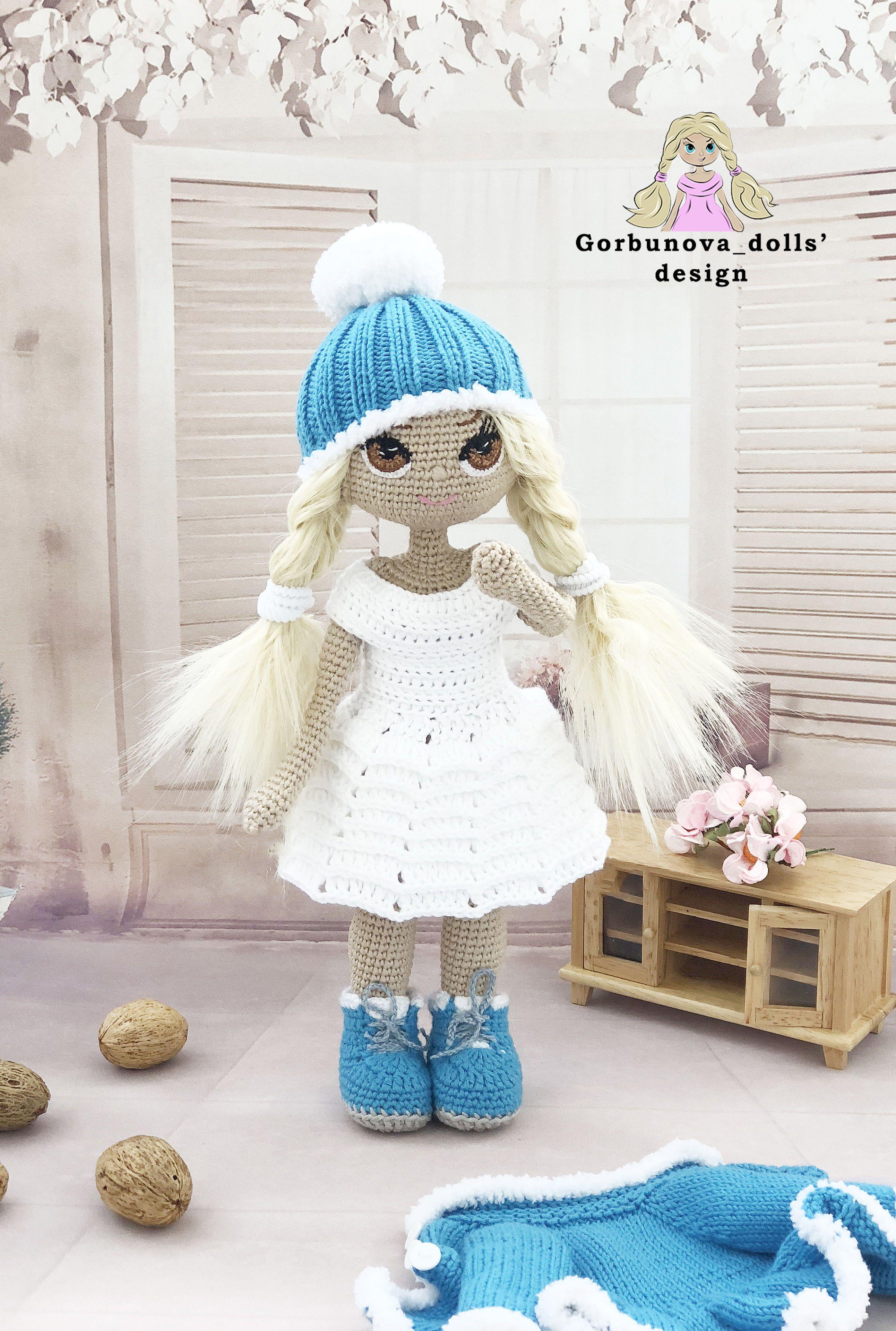 Ravelry: Darcy doll wig pattern pattern by Gina Rahman | 3840x2584