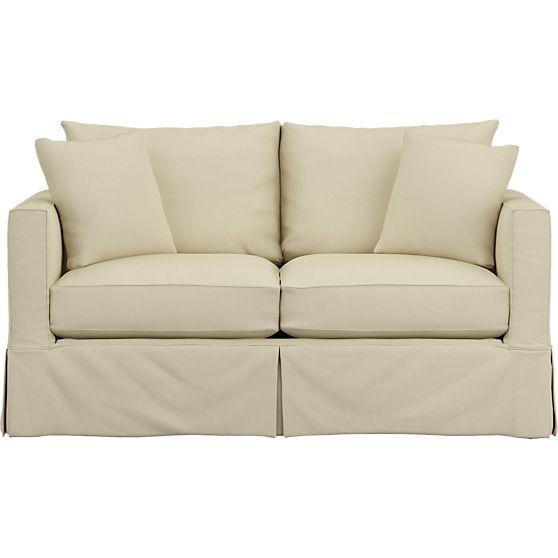 Willow Modern Slipcovered Full Sleeper Sofa With Air