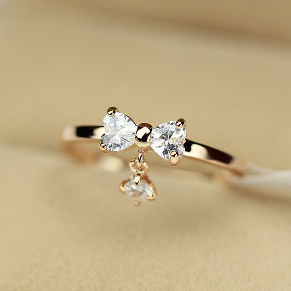 Adorable 14k Rose Gold Plated Princess Style Fashion Bow