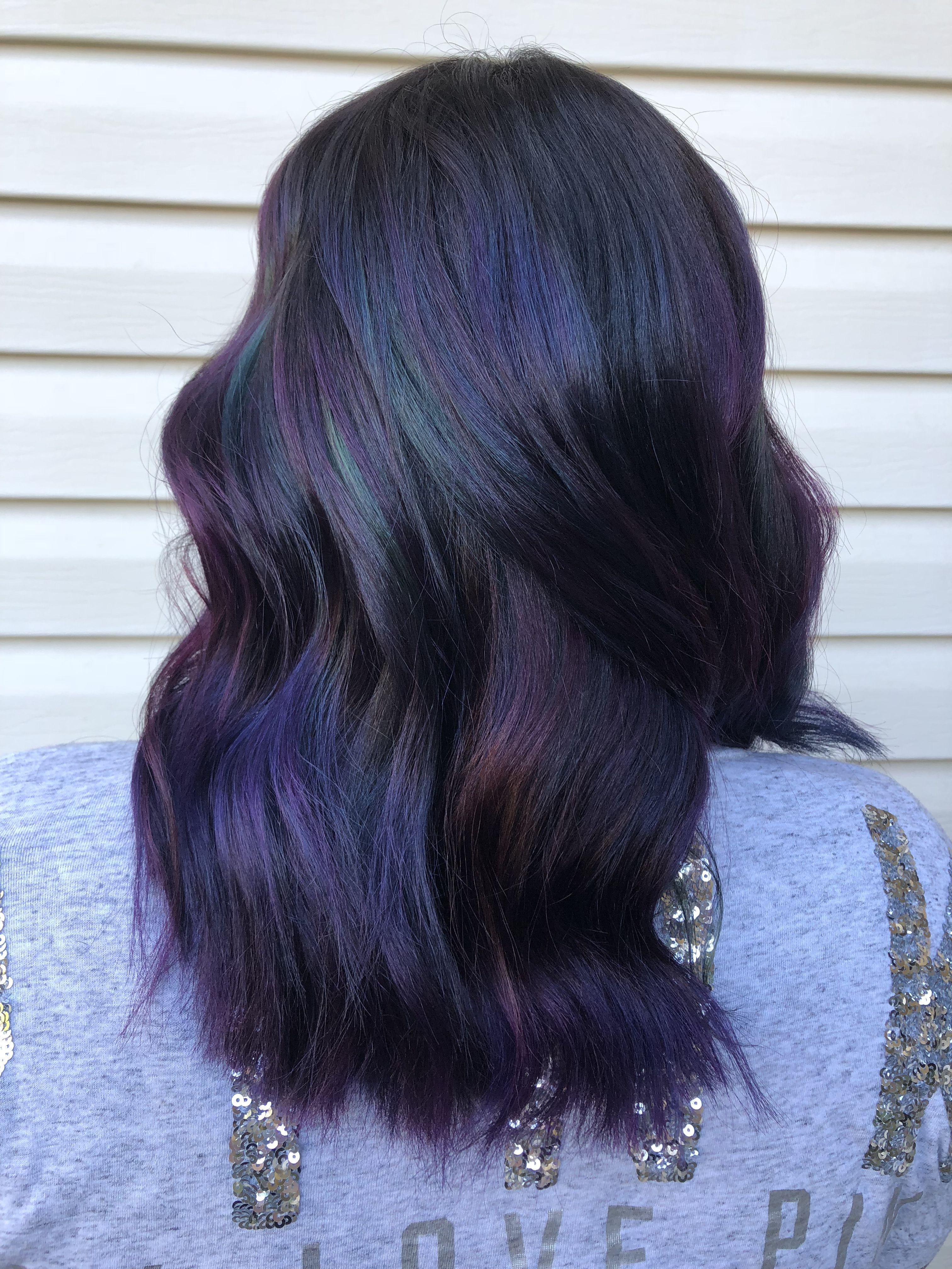 Joico Intensity Balayage Purple Blue Green Pink Hair Curls Waves