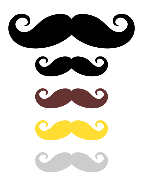 Printable curly mustache photo booth prop. Create DIY props with our ...
