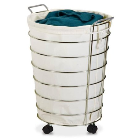 Honey Can Do Hmp 02108 Chrome Rolling Hamper Multicolor Laundry