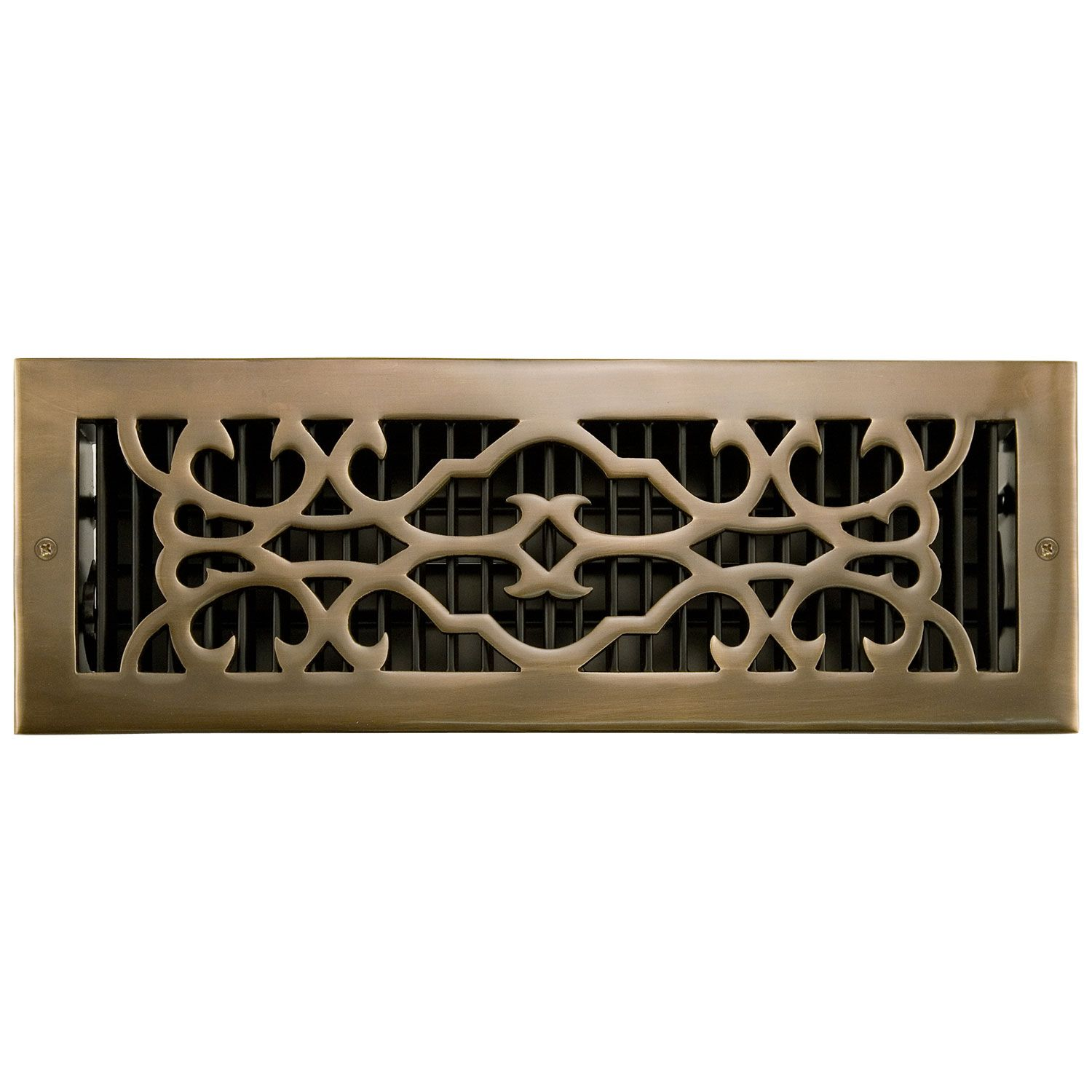 Signature Hardware Traditional Solid Brass Wall Register