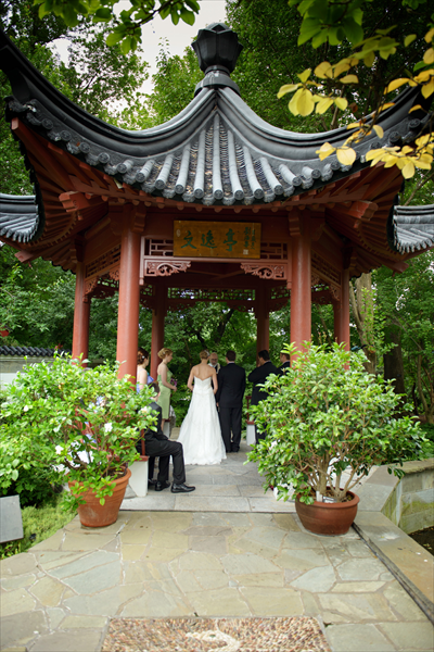 Chinese Garden Ceremony At The Missouri Botanical Garden.
