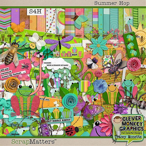 Summer Hop by Clever Monkey Graphics  http://shop.scrapmatters.com/summer-hop-by-clever-monkey-graphics.html